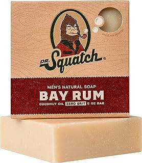 Dr. Squatch Bay Rum Soap, Bar Soap For Men