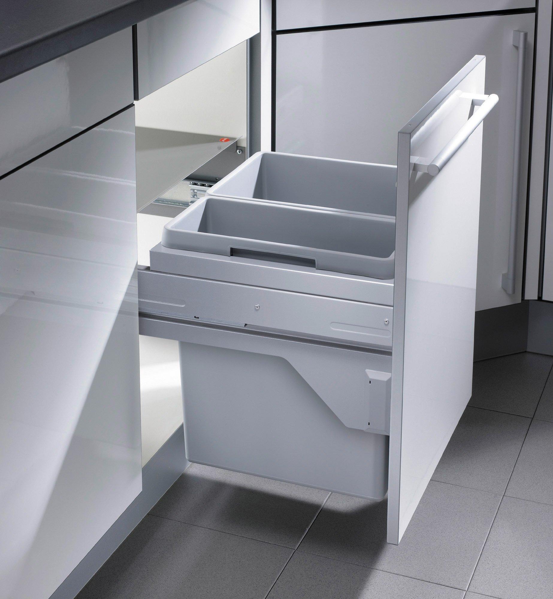 Hailo Euro Cargo S Küchen-Abfalleimer, Grau, One Size