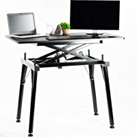 VIVO Black Electric Sit to Stand Height Adjustable Desk Frame Table with Top