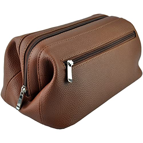 b0f29e3626 Royce Leather Colombian Vaquetta Cowhide Toiletry Bag
