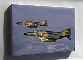 Canvas 16x24; Air Force F-4 Phantom Ii 512Th 526Th Tactical Fighter Squadrons