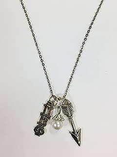 Pi Beta Phi PBP Trio Charm Necklace Sorority Greek Necklace, 18 inch chain