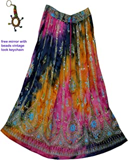 e8439fa8c4 FOI Rayon Skirt Indian Hippie Rock Gypsy Jupe Retro Boho Falda Women Ethnic