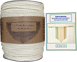 White Macrame Cord 4mm 250 Yards, Soft Cotton Rope, Macrame Supplies, Macrame Rope, Macrame Books, Cotton Cord Macrame Kit, Craft String White Rope Cotton Rope Macrame 4mm Cord for Macrame Macraweave