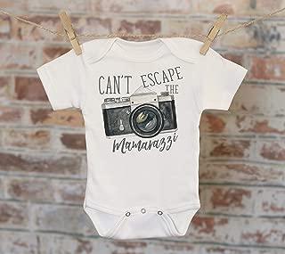 Can't Escape The Mamarazzi Camera Onesie®, Funny Onesie, Cute Onesie, Joke Onesie, Cute Baby Bodysuit, Boho Baby Onesie