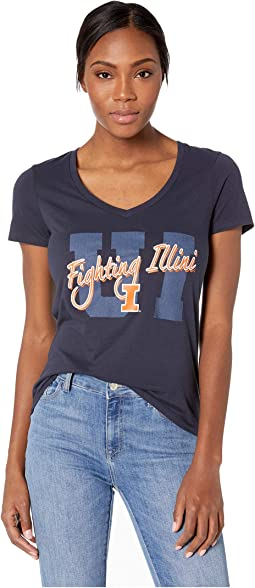 Illinois Fighting Illini University V-Neck Tee