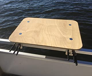 Arnalls Universal Pontoon Boat Table - Boat & Marine Grill Accessory – Perfect for Pontoon Boats - Bracket Set Table - Pontoon Accessory - Multi-Use Table – Essential Boating Accessory - Portable
