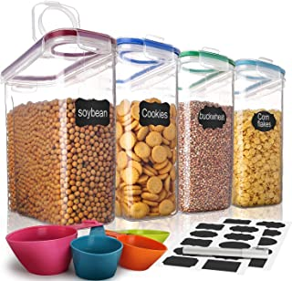 Cereal Container,MCIRCO Food Storage Containers,Airtight Flour Containers Keeper (16.9 Cup 135.2oz) Set of 4