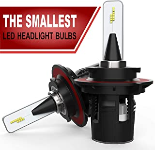 SUTU AUTO - H13 LED Headlight Bulbs - The Smallest LED Car Headlamps - Extremely Bright 10000 lumens - LED Conversion Kit - 6500K White LED Light - 80W CHIP CSP - Low beam/High beam - w/Canbus/Decoder