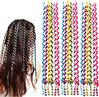 18 Pcs Hair Bands for Girl Women,Beautyshow Braided Rubber Hair Band Hair Styling Twister Clip Twist Barrette Spiral Spin ...