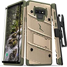 ZIZO Bolt Series Galaxy Note 9 Case with Holster, Lanyard, Military Grade Drop Tested and Tempered Glass Screen Protector for Samsung Galaxy Note 9 Cover - Desert Tan/Camo Green