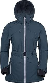 Mountain Warehouse Heuz Women's Extreme Ski Jacket - Breathable, Waterproof, Taped Seams IsoDry Fabric, Adjustable Waist Belt, Recco Reflectors with Hood