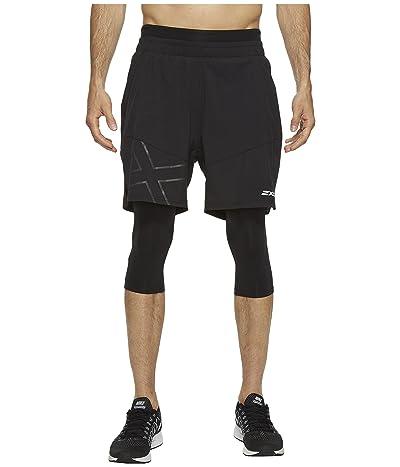2XU X-CTRL 7 Shorts w/ Compression (Black/Black) Men