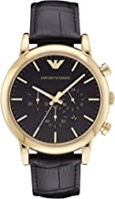 Emporio Armani Men's Chronograph Leather Watch