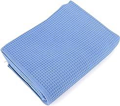 MF Serviette de Toilette absorbante en nid dabeille 100/% Coton Bleu Clair 34 x 75 cm 34x75cm Blanc 100/% Coton