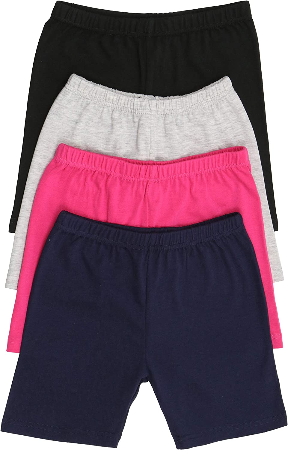 ToBeInStyle Girls' 4 Pack Solid Stretchy Denver Selling Mall Soft Cotton Color Blend
