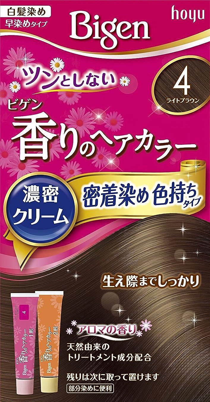 メンター忠実な記述するホーユー ビゲン香りのヘアカラークリーム4 (ライトブラウン) ×6個