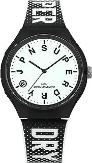 Superdry 'Urban XL Festival Glow' Quartz Plastic and Silicone Casual Watch, Color:Black (Model: SYG224B)