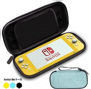 ELOKI Switch Liteのケース、Nintendo Switch Liteコンソール、 超薄型 EVA Switch 収納バッグ、Joy Con Grip、8つのゲームスロット用の保護ハードポータブルトラベルキャリーケース収納バッグ 軽くて持ち運び便利 Switch本体収納ポーチ(switch lite 青)