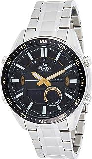 ساعة كاسيو ايديفيس للرجال بمينا لون اسود، EFV-C100D-1BVDF (EX439)