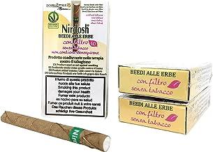 3 Paquetes de cigarrillos de hierbas Nirdosh con filtro – Programa para dejar de fumar – remedio contra el humo – terapia ayurvédica 100% natural Dispositivo médico EU