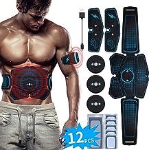 RIRGI EMS Bauchmuskeltrainer USB Wiederaufladbar EMS Trainingsgerät für Arm Bauch Beine..