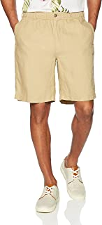 "Amazon Brand - 28 Palms Men's Relaxed-Fit 9"" Inseam Linen Short with Drawstring"