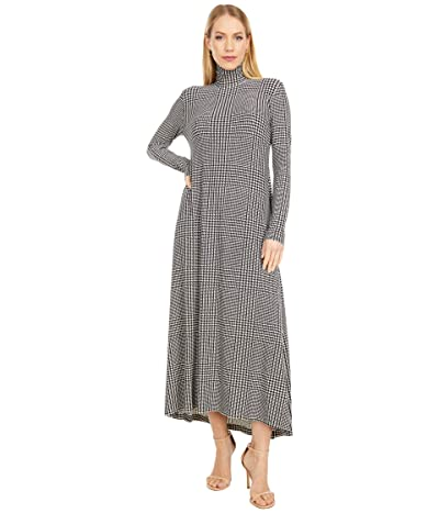 KAMALIKULTURE by Norma Kamali Long Sleeve Turtle Long Swing Dress (Glenn Plaid) Women