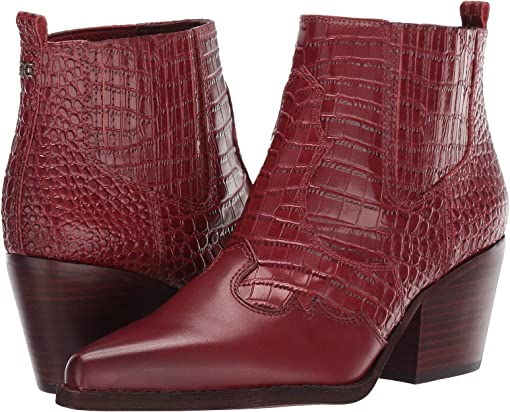 Spiced Mahogany Kenya Croco Embossed Leather/Vaquero Saddle Leat