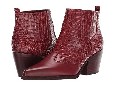 Sam Edelman Winona (Spiced Mahogany Kenya Croco Embossed Leather/Vaquero Saddle Leat) Women