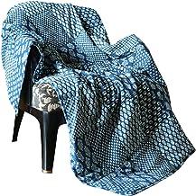 RAJRANG Quilted Patchwork Cotton Throw Blanket - Indigo Blue Vintage Reversible Throw Indian Decorative Super Soft & Warm ...