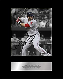J. D. Martinez Signed Mounted Photo Display Boston Red sox MLB Autographed Gift Picture Print