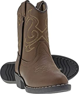 Canyon Trails Kids Lil Cowboy Pointed Toe Classic Western Rodeo Boots (Toddler/Little Kid)