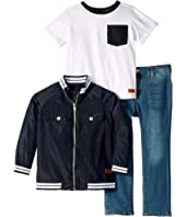 Three-Piece Denim Set - Classic Jersey, Nylon, Denim (Toddler)