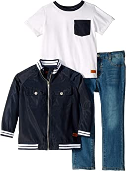 Three-Piece Denim Set - Classic Jersey, Nylon, Denim (Toddler)