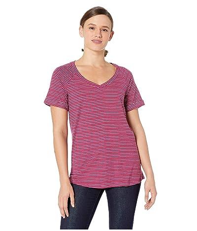 Columbia Summer Timetm T-Shirt II (Wine Berry Stripe) Women