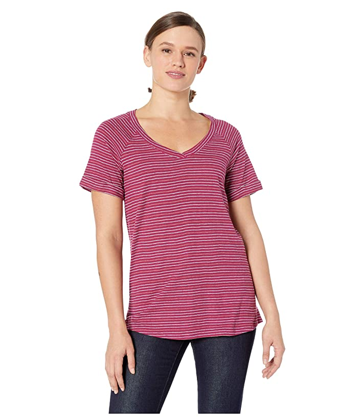 Columbia Summer Timetm T-Shirt II (Wine Berry Stripe) Women