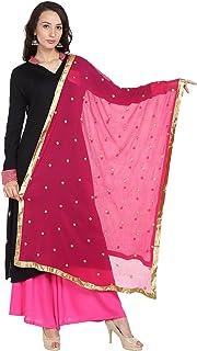 Dupatta Bazaar Woman's Embroidered Chiffon Dupatta