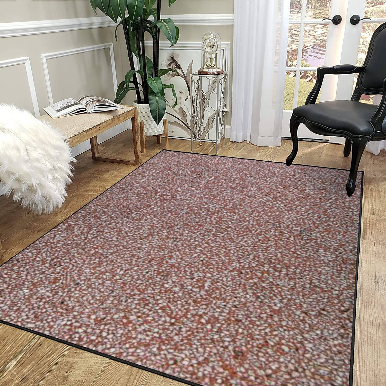 Max 47% OFF Rug Pad Close up Wall of Red Polished Ima Grit Max 61% OFF Cement with White