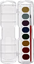 PRANG Washable Watercolor Paint Set, 8 Glitter Colors with Brush, Assorted Colors (80515)