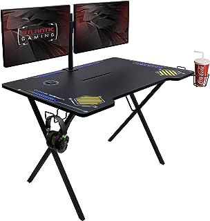 Atlantic Gaming Desk Viper 3000-45+ inches Wide, LED Illumination, Three USB 3.0 Ports,...