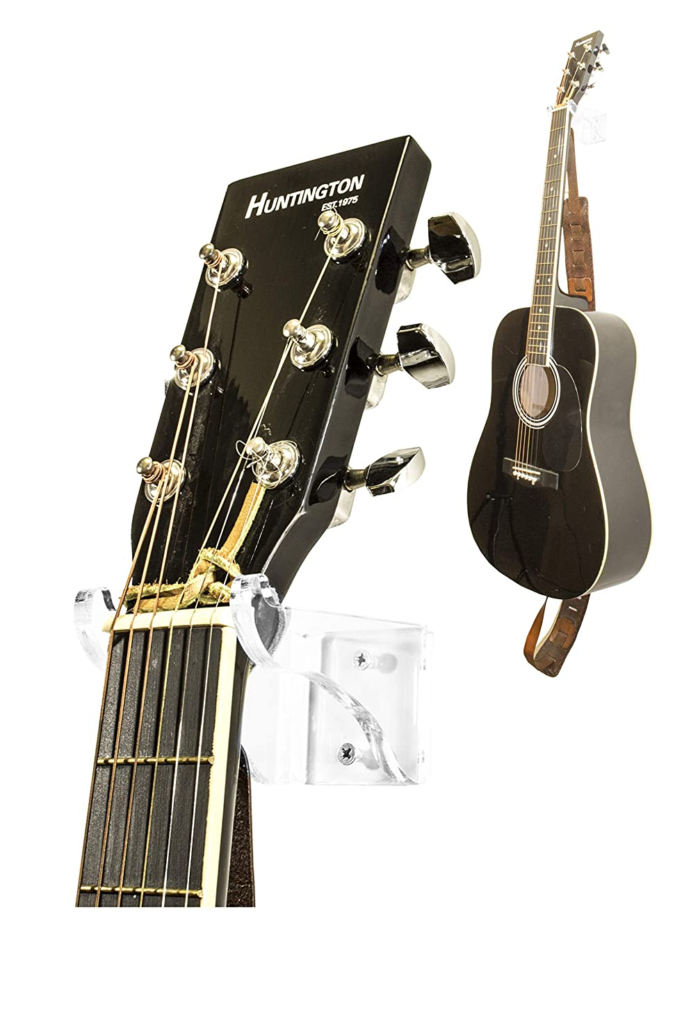 Better Display Cases Deluxe Clear Acrylic Guitar Hanger/Hook/Holder Wall Mount Bracket for Acoustic or Electric Guitars (A063-G)