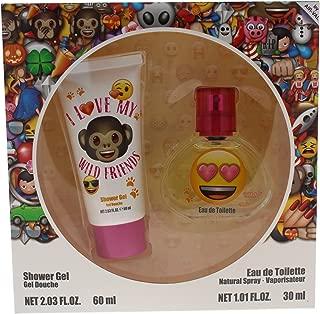 Emoji I Love My Wild Friends for Kids 2 Piece Gift Set with Eau de Toilette Spray & Shower Gel