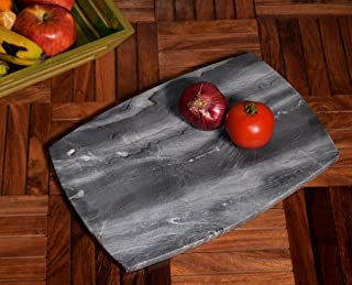Hashcart Natural Marble Meat/Vegetable Cutting Board for Kitchen Décor