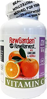 Raw Garden Natural Chewable Vitamin C with Camu Camu & Acerola (120 Count)