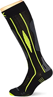 Calcetines de esquí Effektor Advance Man, Black/Grey/Lime