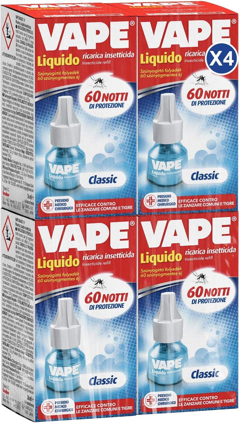 Vape Specialist - Recarga líquida para 60 noches x 4 unidades - 144 ml