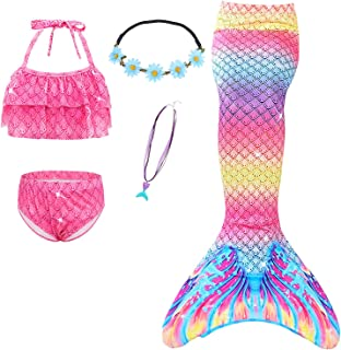 HenzWorld Big Girls Swimsuits Mermaid for Swimming Suits Bikini Sets Fancy Party Birthday Gift