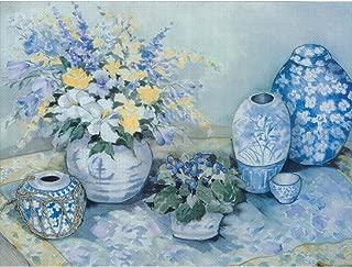 MCG Textiles Candamar Designs Blue Delphinium Embellished Cross Stitch Kit