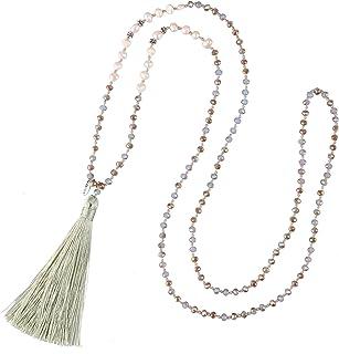 KELITCH della Boemia della Collana della Nappa della Perla Naturale di Cristallo Borda la Collana A Lunga Y Collana A Cate...